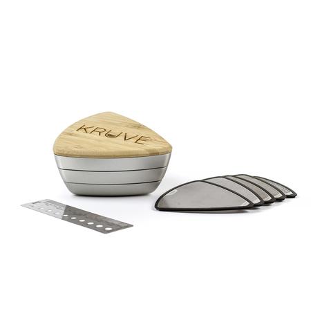 Kruve Sifter Base - Silver - Odsiewacz do kawy z 5 sitkami
