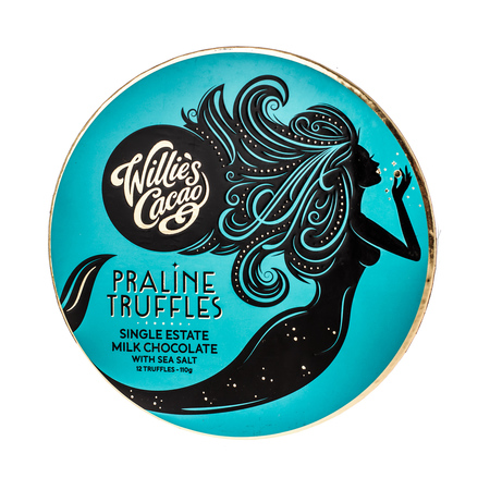 Willie's Cacao - Czekoladki - Praline Truffles Milk Chocolate with Sea Salt 110g