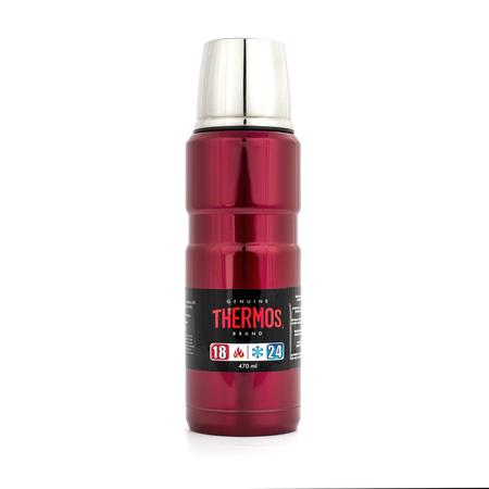Thermos KING Red 470ml - Termos czerwony