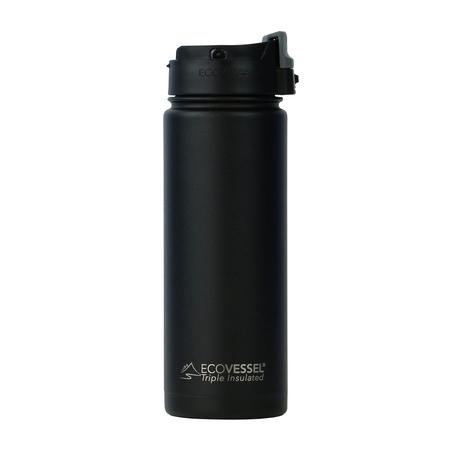EcoVessel - Butelka termiczna Perk - Czarna 600 ml