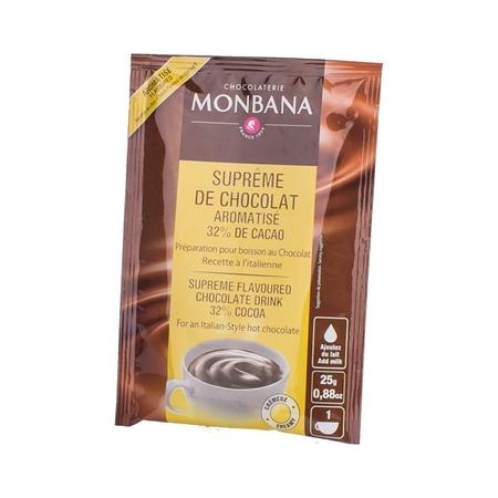 Monbana Supreme Chocolate o pomarańczowym smaku  – saszetka 25g