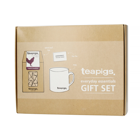 teapigs Everyday Essentials Gift Set - Herbata Sypana English Breakfast i Kubek