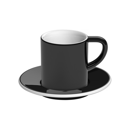 Loveramics Bond - Filiżanka i spodek Espresso 80 ml - Black