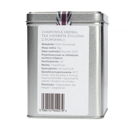 Tregothnan - Chamomile - Herbata 15 piramidek - Puszka