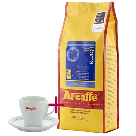 Zestaw: Arcaffe Roma 1kg + Filiżanka do cappuccino