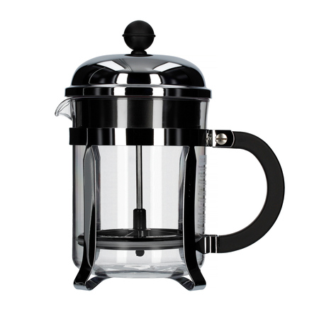 Bodum Chambord French Press 4 cup - 500 ml Chrom  - Ze zbiornikiem z tworzywa