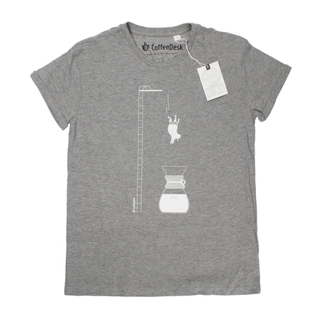 Koszulka Coffeedesk Chemex Szara - Męska L