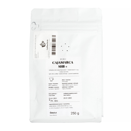 Hard Beans - Peru Cajamarca SHB+ Filtr 250g