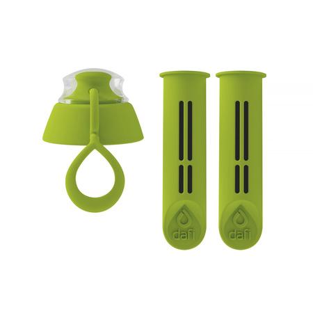 Dafi - 2 filtry do butelki + zakrętka - Zielony