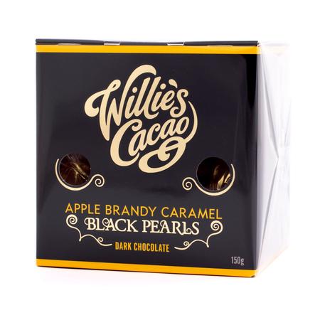 Willie's Cacao - Czekoladki - Apple Brandy Caramel Black Pearls 150g