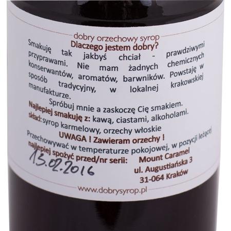 Mount Caramel Dobry Syrop - Orzech 500 ml