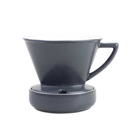 Barista & Co - Drip Coffee Filter Grey - Dripper porcelanowy