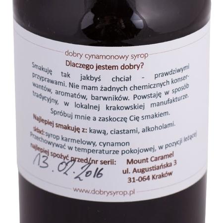 Mount Caramel Dobry Syrop - Cynamon 500 ml