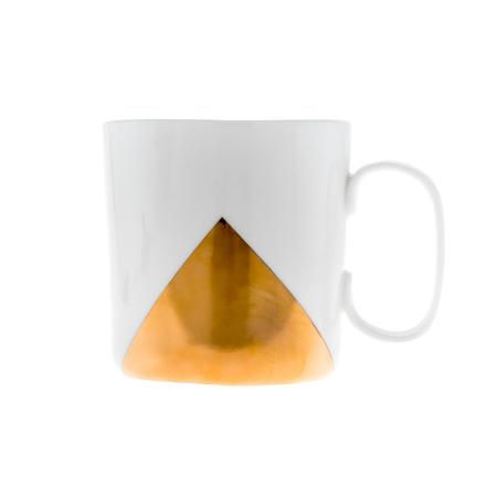 ENDE - Kubek 250ml - Biała porcelana ze złotym trójkątem