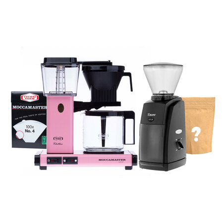 Zestaw Ekspres Moccamaster KBG 741 Select - Pink + Młynek Baratza + Kawa i filtry