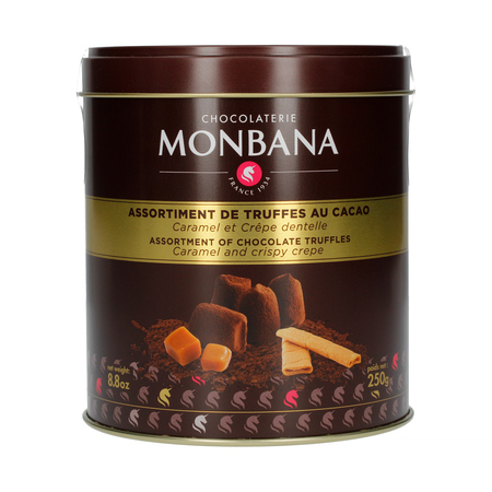 Monbana Assortment of Chocolate Truffles: Caramel and Crispy Crepe 250g (outlet)
