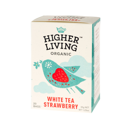 Higher Living White Tea Strawberry - herbata - 20 saszetek