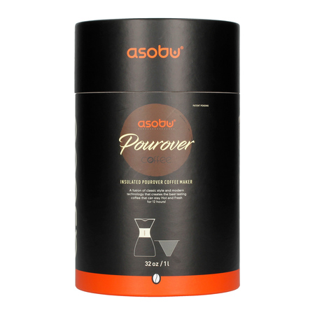 Asobu - Pourover Insulated Coffee Maker - Srebrny / Czarny