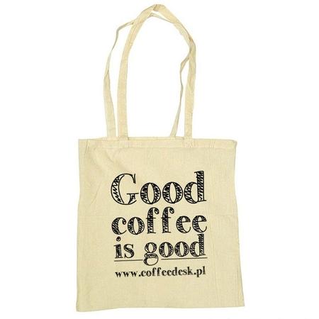 Torba eko - Good Coffee Is Good - Kremowa