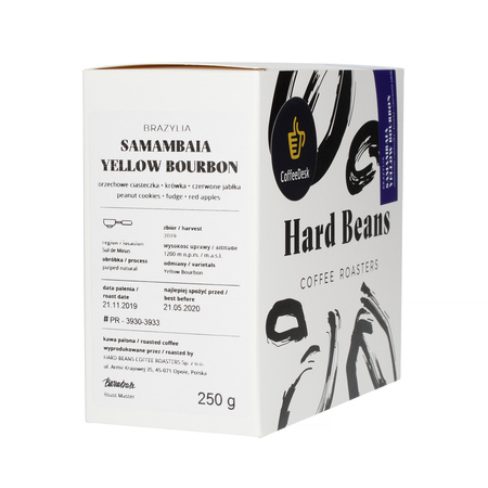 Hard Beans - Brazylia Samambaia Espresso 250g - Kawa ziarnista