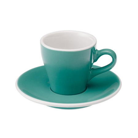 Loveramics Tulip - Filiżanka i spodek Espresso 80 ml - Teal