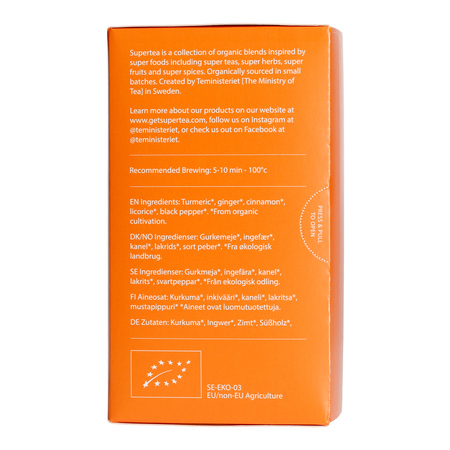 Teministeriet - Supertea Turmeric Ginger Organic - Herbata 20 Torebek