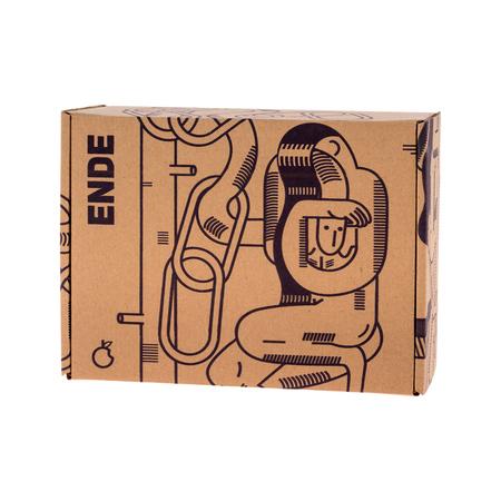 ENDE - Kubek 350ml - Mobius z różowej porcelany