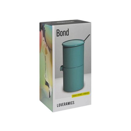 Loveramics Bond - Cukiernica + dzbanek na mleko + łyżeczka - Teal