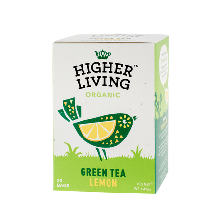 Higher Living Green Tea Lemon - herbata - 20 saszetek