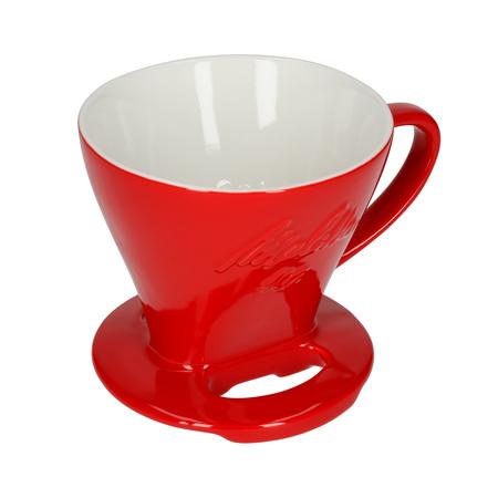 Melitta porcelanowy dripper do kawy 102 - Czerwony