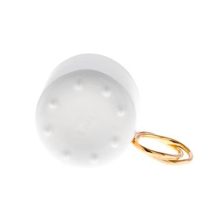ENDE - Filiżanka 100ml ze spodkiem - Espresso Twist z porcelany zdobiona złotem