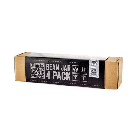 Comandante Bean Jar Clear Glass - Przezroczysty słoik na zmieloną kawę - 4 sztuki