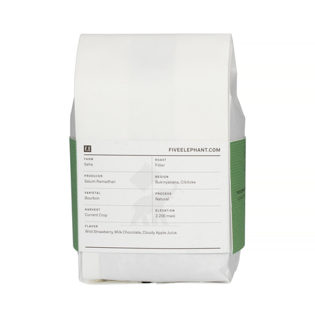 Five Elephant Burundi Sehe Collective Natural Bourbon FIL 284g, kawa ziarnista (outlet)