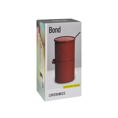Loveramics Bond - Cukiernica + dzbanek na mleko + łyżeczka - Red