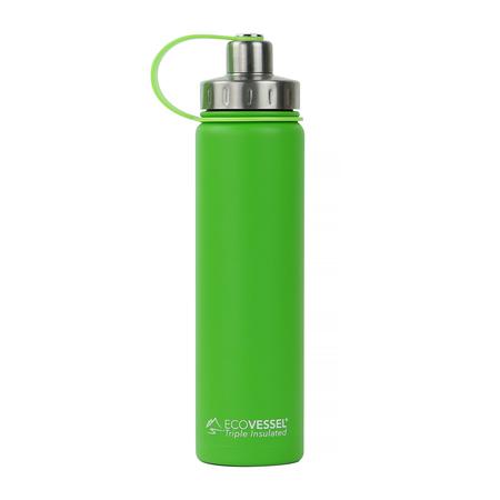 EcoVessel - Butelka termiczna Boulder - Zielona 700 ml