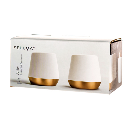 Fellow Junior Demitasse - Kubek biały 70 ml - 2 sztuki
