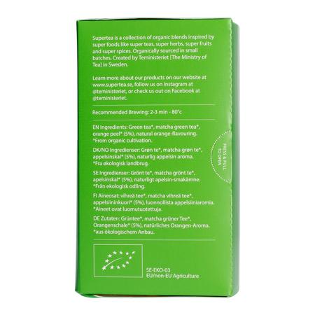 Teministeriet - Supertea Matcha Mandarin Organic - Herbata 20 Torebek