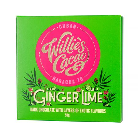 Willie's Cacao - Czekolada Imbir i Limonka 70% - Ginger Lime Kuba 50g