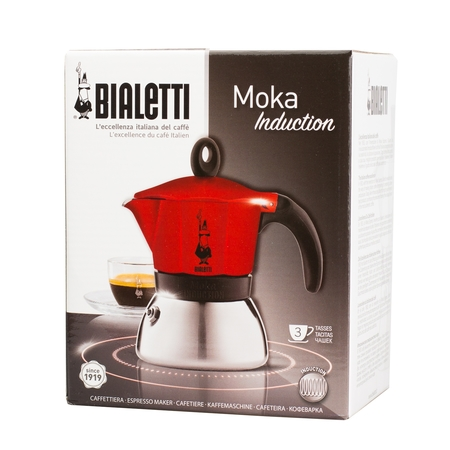 Bialetti Moka Induction 3tz Czerwona