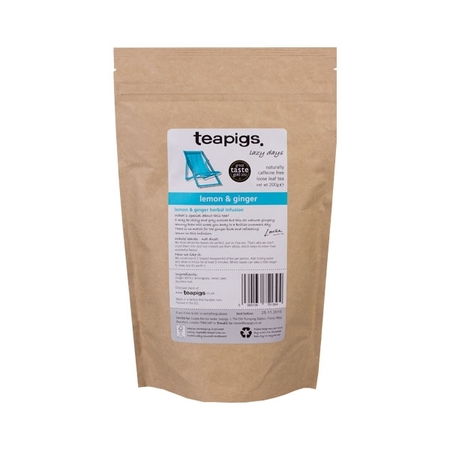 teapigs Lemon and Ginger herbata sypana 200g
