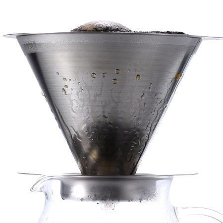 Hario metalowy Drip V60-02 z podstawką