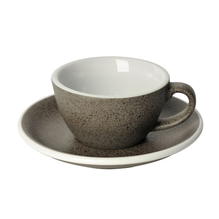 Loveramics Egg - Filiżanka i spodek Flat White 150 ml - Granite