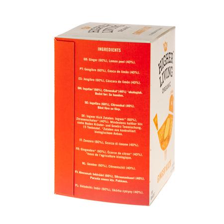 Higher Living Ginger Kick - herbata - 15 saszetek