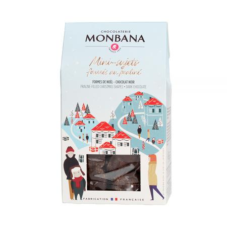 Monbana - Świąteczne praliny w gorzkiej czekoladzie 130g