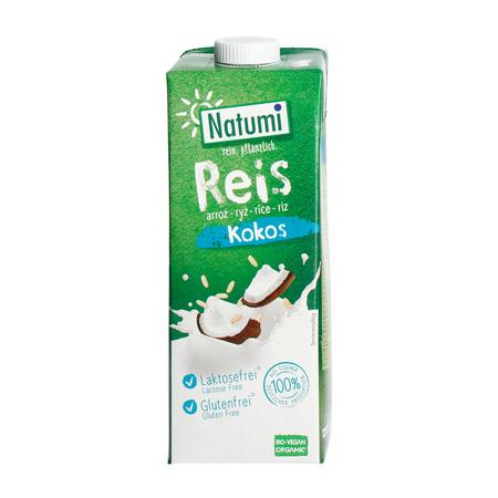 Natumi - Napój ryżowo-kokosowy bez dodatku cukru bezglutenowy 1L