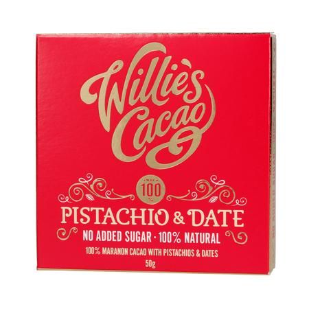 Willie's Cacao - Czekolada - Pistacje i daktyle - Pistachio and Date 50g