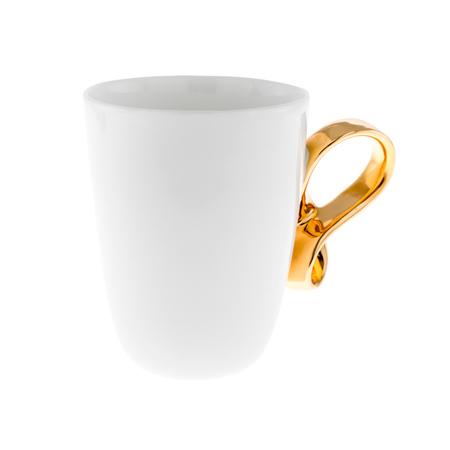 ENDE - Filiżanka 150ml - Mobius z porcelany zdobiona złotem