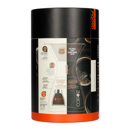 Asobu - Pourover Insulated Coffee Maker - Czarny