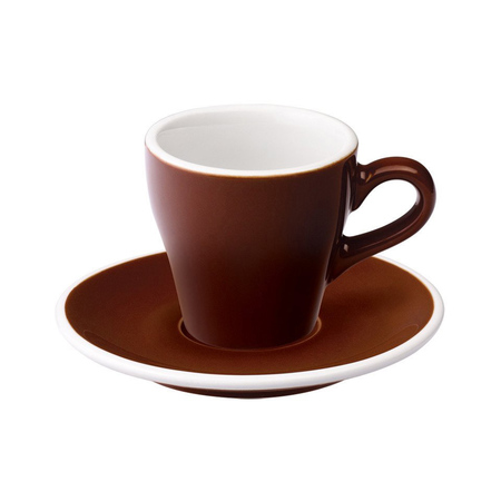 Loveramics Tulip - Filiżanka i spodek Espresso 80 ml - Brown