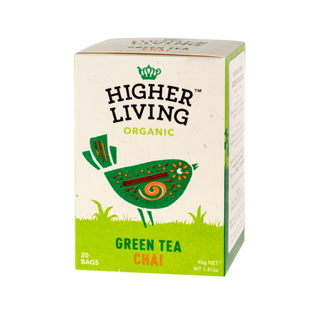 Higher Living Green Tea Chai - herbata - 20 saszetek